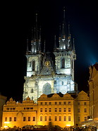 07 Church of Our Lady before Tyn at night