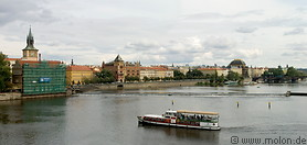 06 View of Vlava river with tourist boat