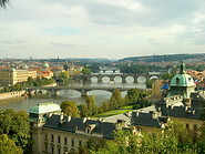09 Evening view of Vltava river and bridges