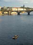 17 Vltava river and fisherman on boat