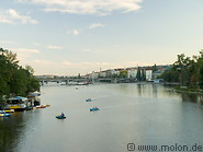 18 Vltava river at sunset