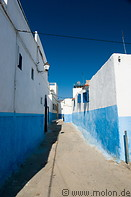 04 Alley with white and blue houses
