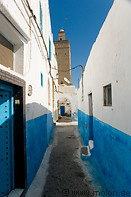 05 Alley with white and blue houses