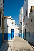 08 Alley with white and blue houses