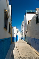 09 Alley with white and blue houses