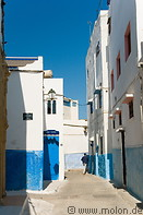 10 Alley with white and blue houses