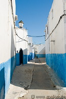 14 Alley with white and blue houses