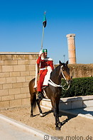 02 Guard in red uniform on horse