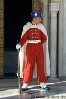 12 Guard in red uniform