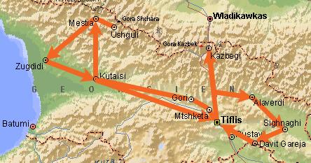 Georgia 2017 travelogue: Tbilisi, Mtshketa, Uplistsikhe, Gori ... on tiflis russia map, moscow russia map, kars russia map,